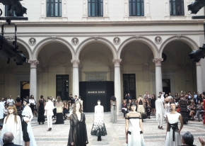 We organised Mario Dice's Fashion Show during September Milan Fashion Week