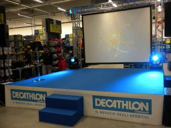 We have organized an event to complete the well-known sports brand Decathlon