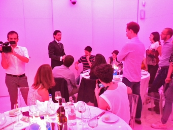 Reference of corporate dinner with Sky Digital