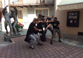 We organised an incentive with a Team Building Team Me Up activity, themed Superheroes treasure hunt for Aveda at Courmayeur.