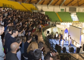 We organised the annual meeting Progettinfiera for Decathlon at Monza's sport palace