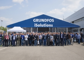 We organised the setting, logistic and entertainment based on flight experiences in virtual reality for our customer Grundfos.