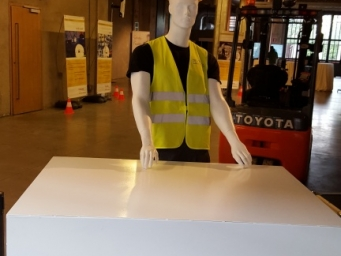 We organised an event to promote an innovative and safe elevator cart for our customer Toyota at Officine del Volo.