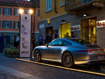 Smart Eventi created an exhibition area in Monza for a promotional activity signed by Porsche