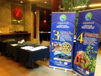 Charity event organised by the Rotary Club to promote a humanitarian world project and raise funds