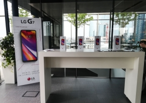 We collaborated with Publicis in order to present to the press the newest LG's mobile product, the G7 model