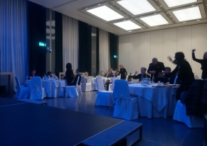 Smart Eventi organized a creative team building for the Gallia Excelsior Hotel's employers: the quiz game.