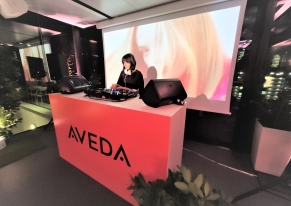 Smart Eventi organized a cocktail party on a rooftop for Aveda